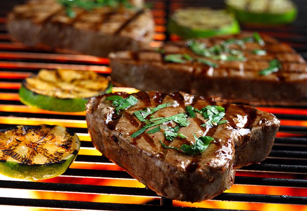 Flocons de courgettes et de thon à la grille