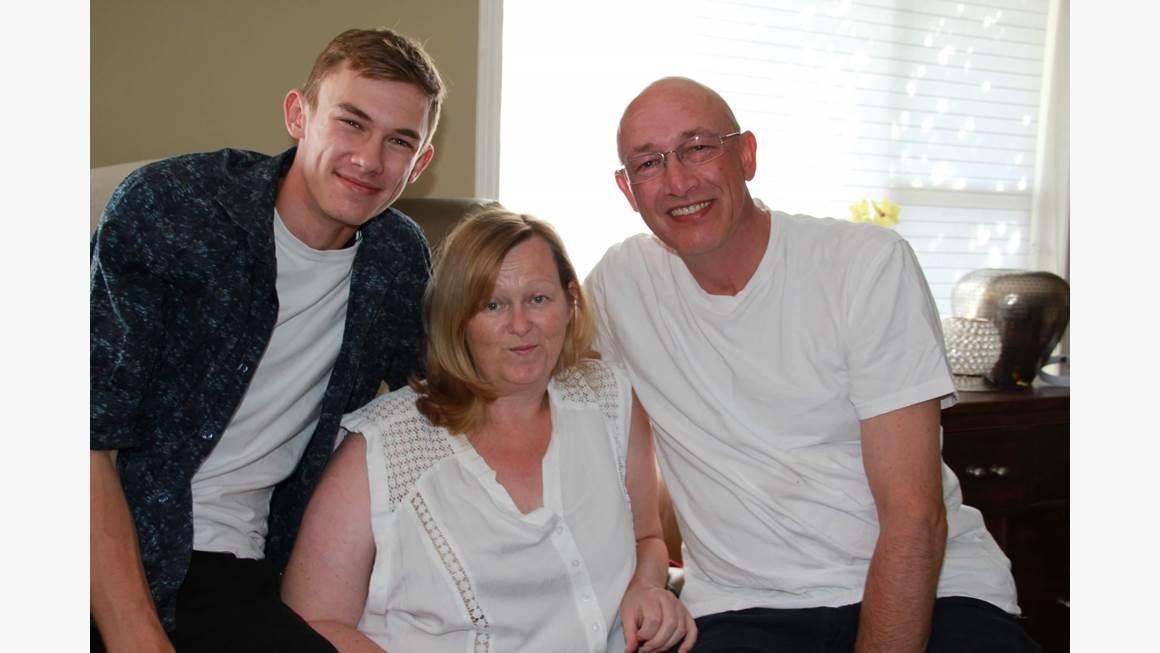 John, Carma et Rob Claydon