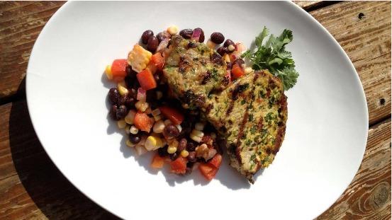 Salade de porc et haricots noirs