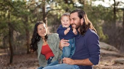 Famille, apprécier, jour, nature