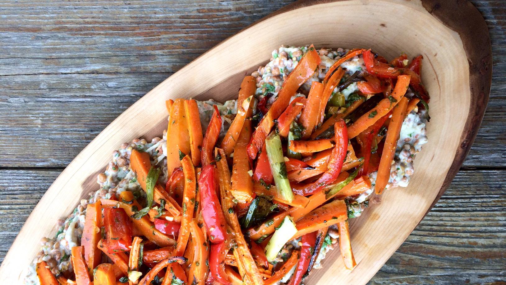 Râpé de carottes rôties et d