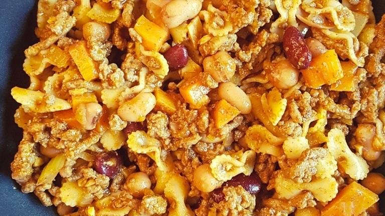 Macaroni au chili au poêlon