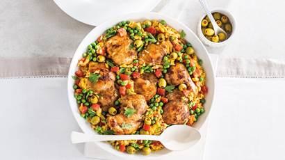 Dîner de riz au poulet espagnol