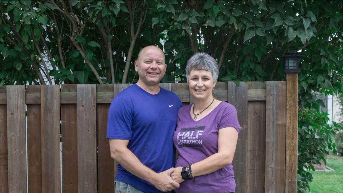 Patti Mersereau Leblanc avec son mari Dennis
