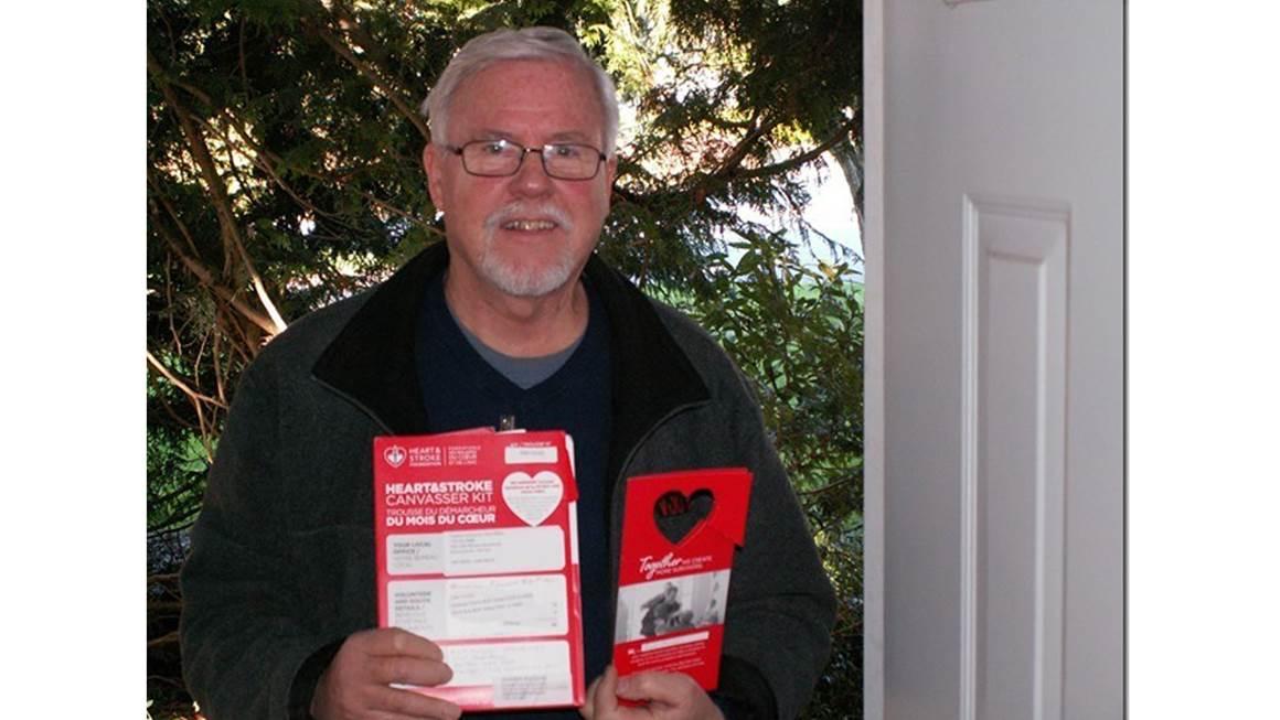 Heart and Stroke Foundation bénévoles Rich Mingus