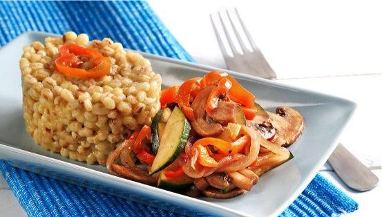 orge avec légumes caramélisés