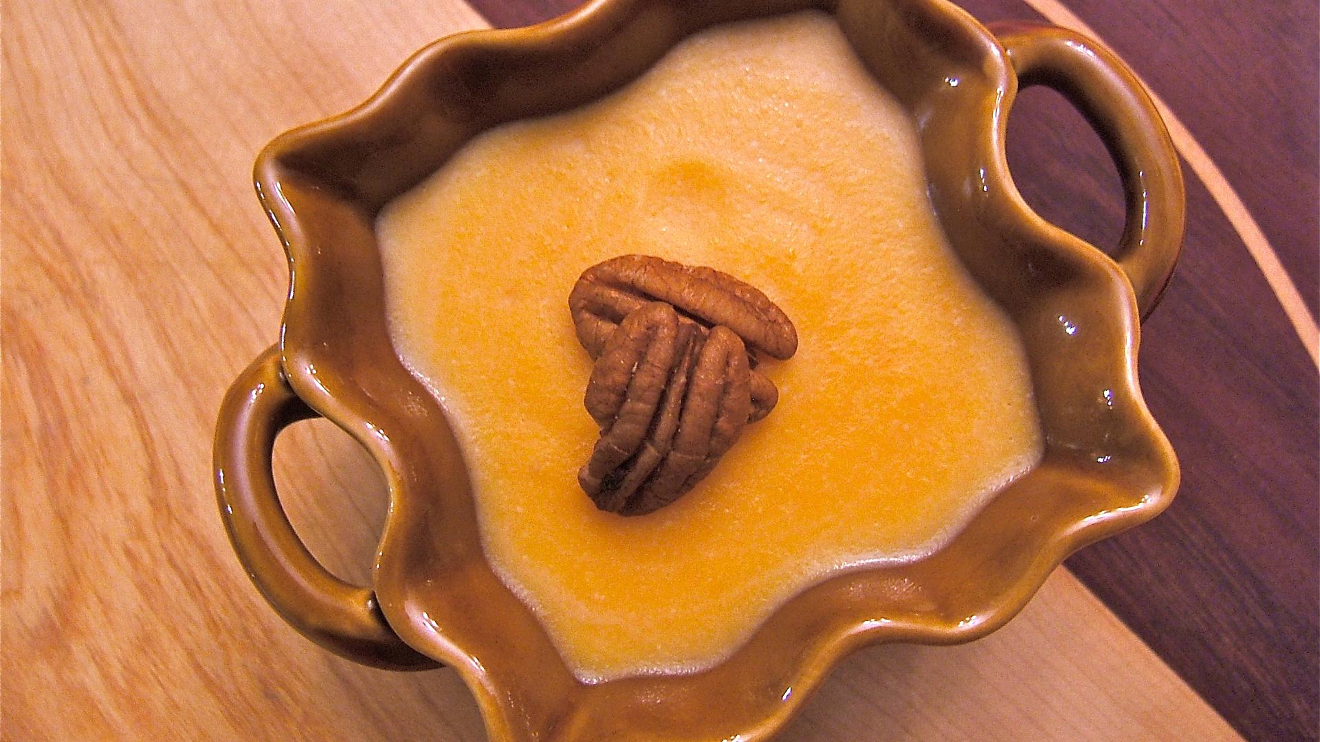 Sweet potato maple pudding